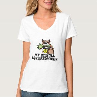 My PitBull Loves Zombies Tee Shirt