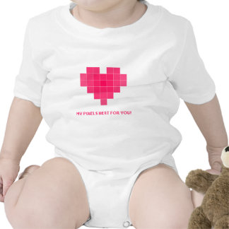 My pixels beat for you! baby bodysuit