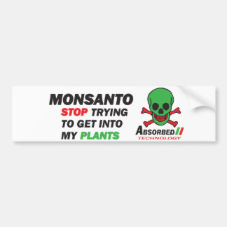 My plants bumper sticker