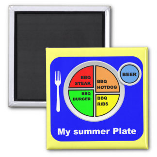 My Plate Fridge Magnet