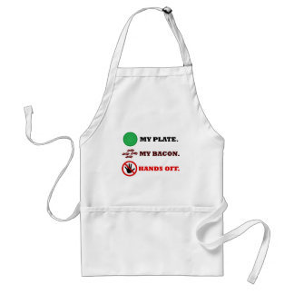 My Plate. My Bacon. Hands Off. Adult Apron