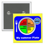 My Plate Pinback Buttons