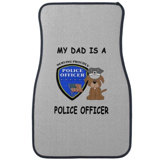 My Police Dad Car Mat