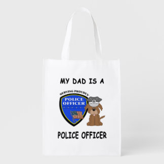 My Police Dad Grocery Bags