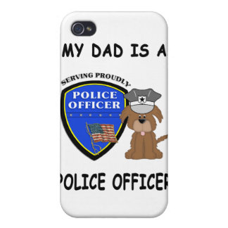 My Police Dad iPhone 4 Cover