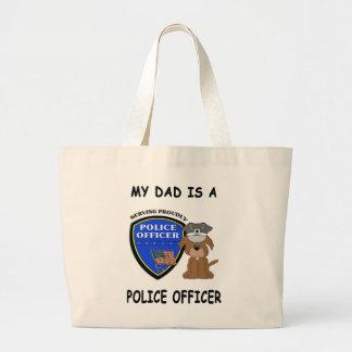 My Police Dad Large Tote Bag