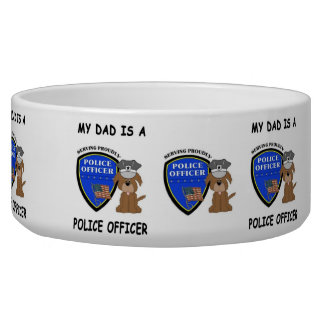 My Police Dad Dog Water Bowls