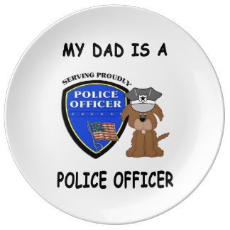 My Police Dad Plate