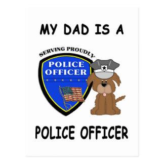 My Police Dad Postcard
