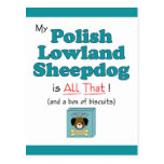 My Polish Lowland Sheepdog is All That! Post Cards