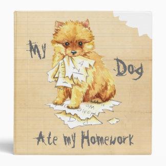 My Pomeranian Ate My Homework 3 Ring Binder