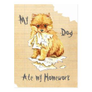 My Pomeranian Ate My Homework Postcard
