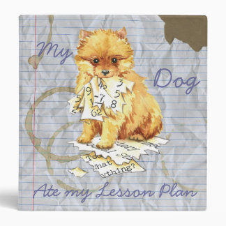 My Pomeranian Ate My Lesson Plan 3 Ring Binder