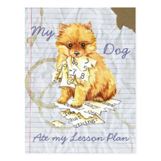 My Pomeranian Ate My Lesson Plan Postcard