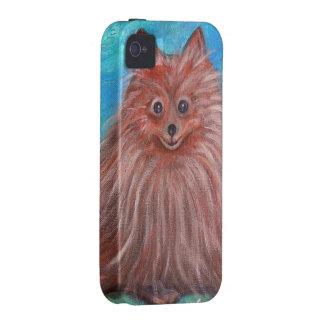 My Pomeranian Dog by Prisarts iPhone 4 Case