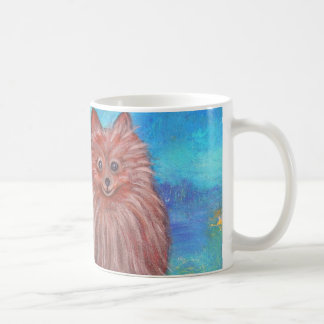 My Pomeranian Dog by Prisarts Classic White Coffee Mug