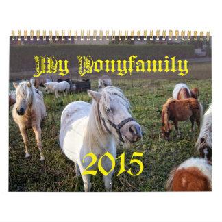 My pony family Calendar 2015