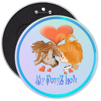 My PonyZ Love Lettered  Button