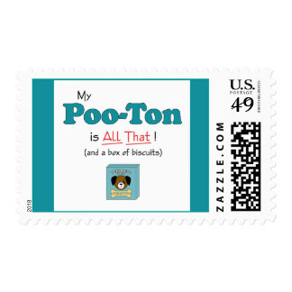 My Poo-Ton is All That! Postage Stamps