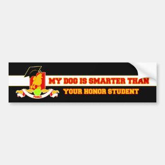 My Poodle Is Smarter Bumper Sticker