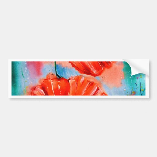 My Poppies in Bloom Bumper Sticker