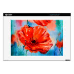 """My Poppies in Bloom Decals For 15"""" Laptops"""
