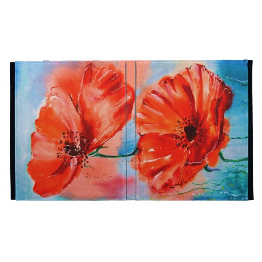 My Poppies in Bloom iPad Case