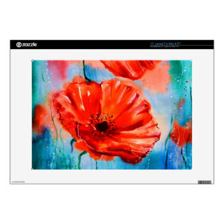 My Poppies in Bloom Laptop Decals