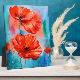 My Poppies in Bloom Plaques