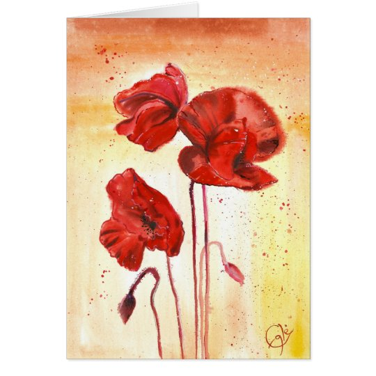 My Poppies in the Summer Card