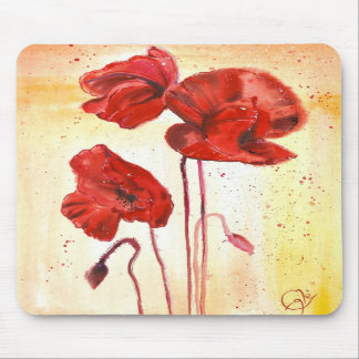 My Poppies in the Summer Mousepad