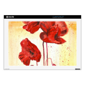 My Poppies in the Summer Decal For Laptop
