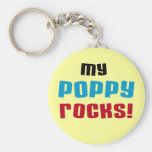 My Poppy Rocks T-shirts and Gifts Basic Round Button Keychain