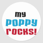 My Poppy Rocks T-shirts and Gifts Round Sticker