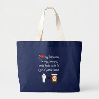My Porcelaine Loves Peanut Butter Jumbo Tote Bag