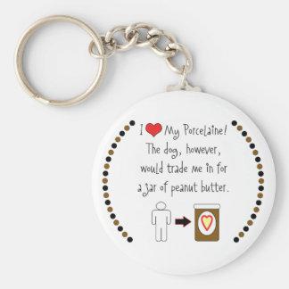 My Porcelaine Loves Peanut Butter Basic Round Button Keychain