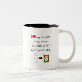 My Porcelaine Loves Peanut Butter Two-Tone Coffee Mug