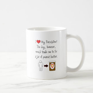 My Porcelaine Loves Peanut Butter Classic White Coffee Mug