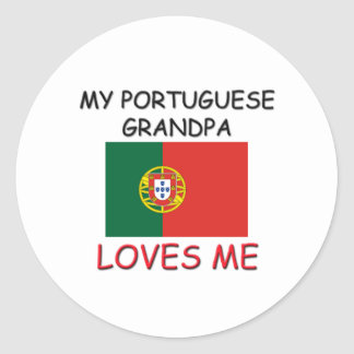My Portuguese Grandpa Loves Me Round Sticker