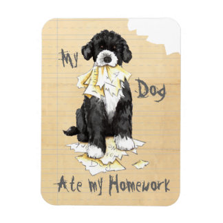 My Portuguese Water Dog Ate My Homework Magnet
