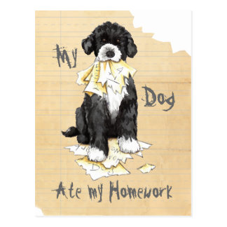 My Portuguese Water Dog Ate My Homework Postcard