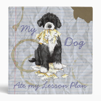 My Portuguese Water Dog Ate My Lesson Plan Vinyl Binders
