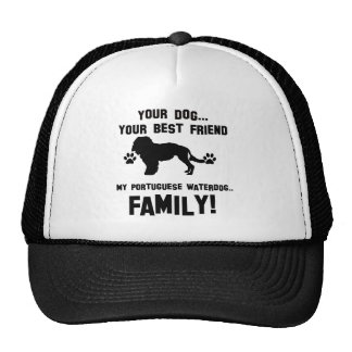 My portuguese waterdog family, your dog just a bes mesh hat