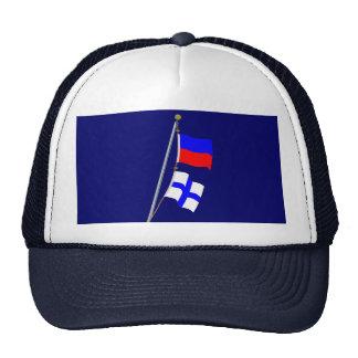 My position is doubtful.Signal Flag Hoist Trucker Hat