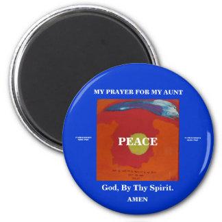 MY PRAYER FOR MY AUNT 2 INCH ROUND MAGNET