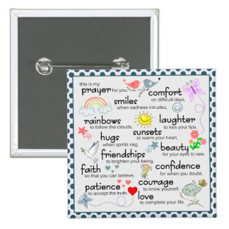 My Prayer For You 2 Inch Square Button