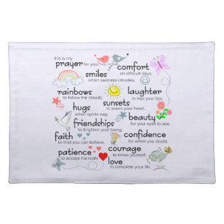 My Prayer For You Cloth Placemat