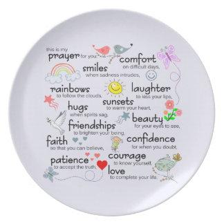 My Prayer For You Dinner Plate