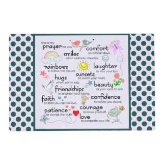 My Prayer For You Placemat