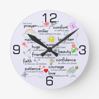 My Prayer For You Round Clock